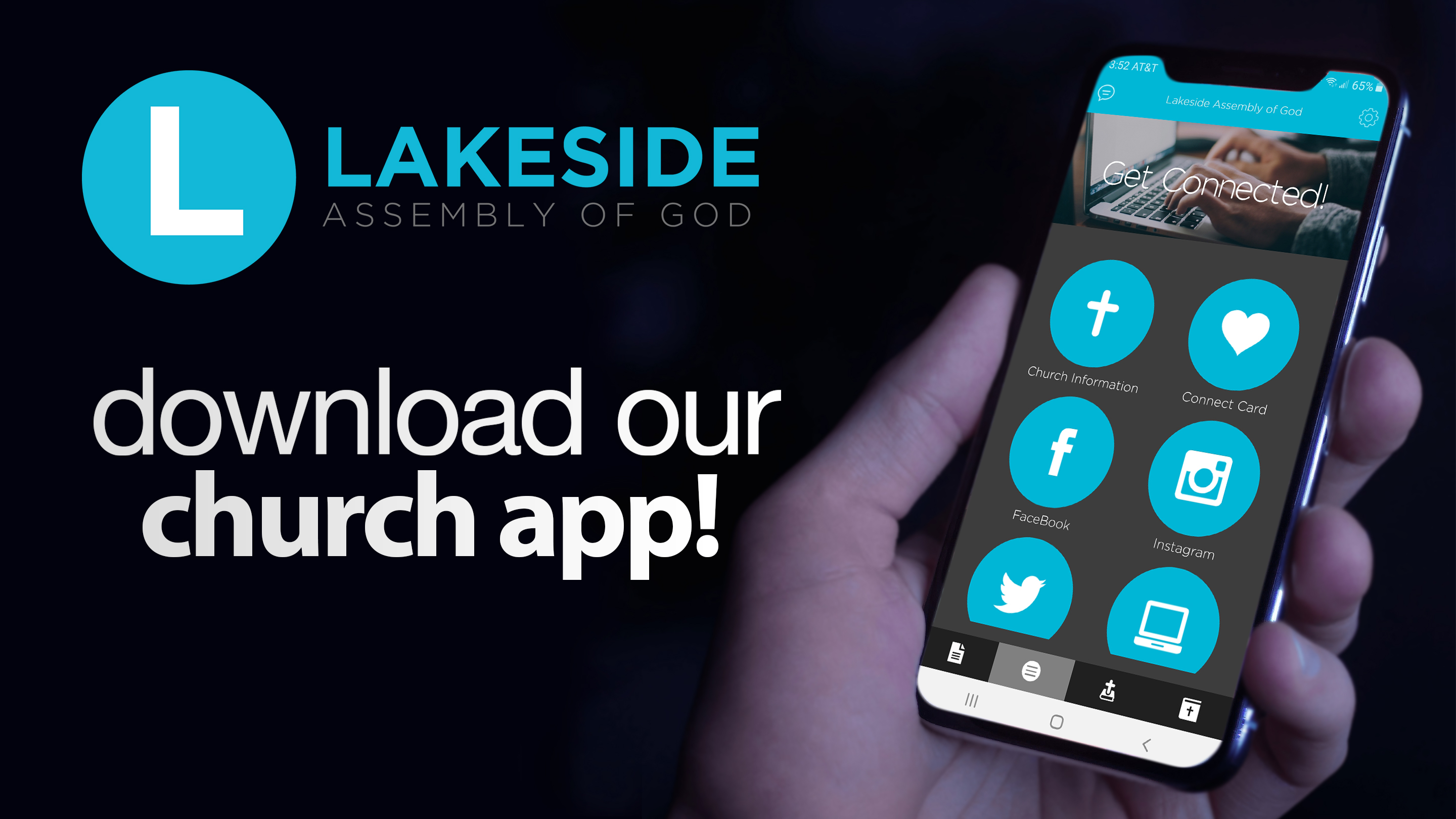 Download our church app - slide
