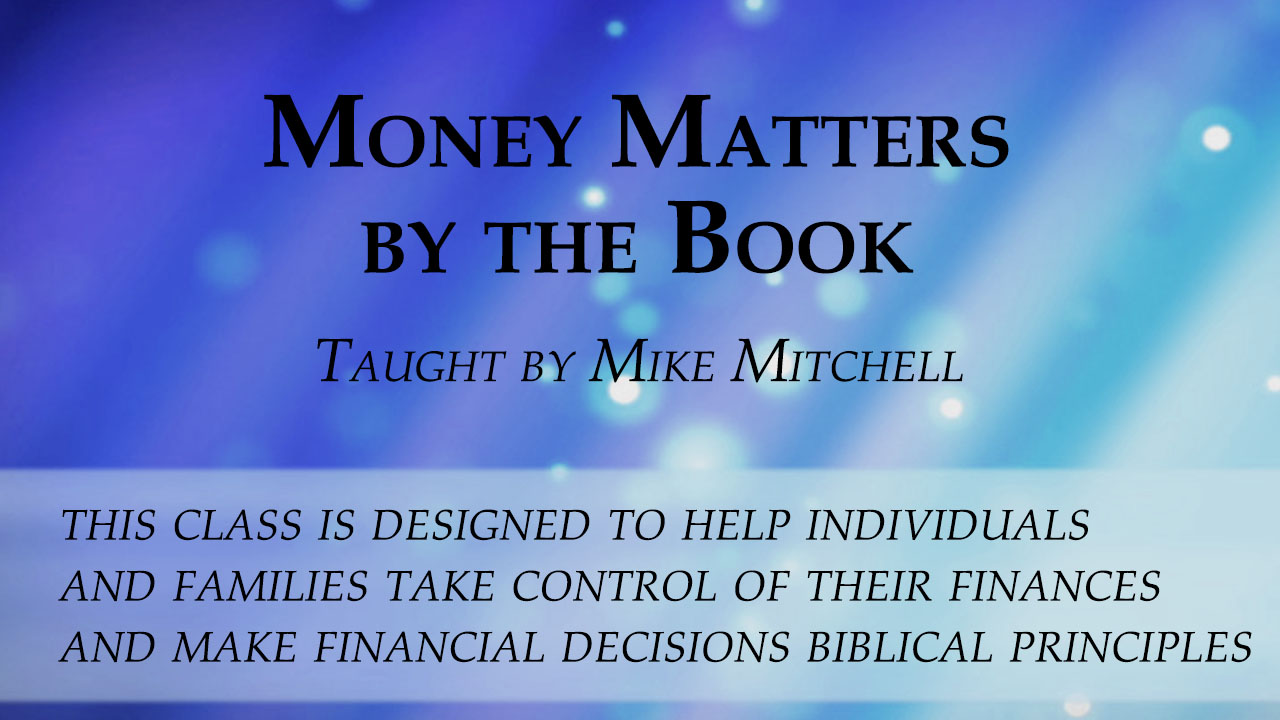 CF Elective - Money Matters by the Book banner