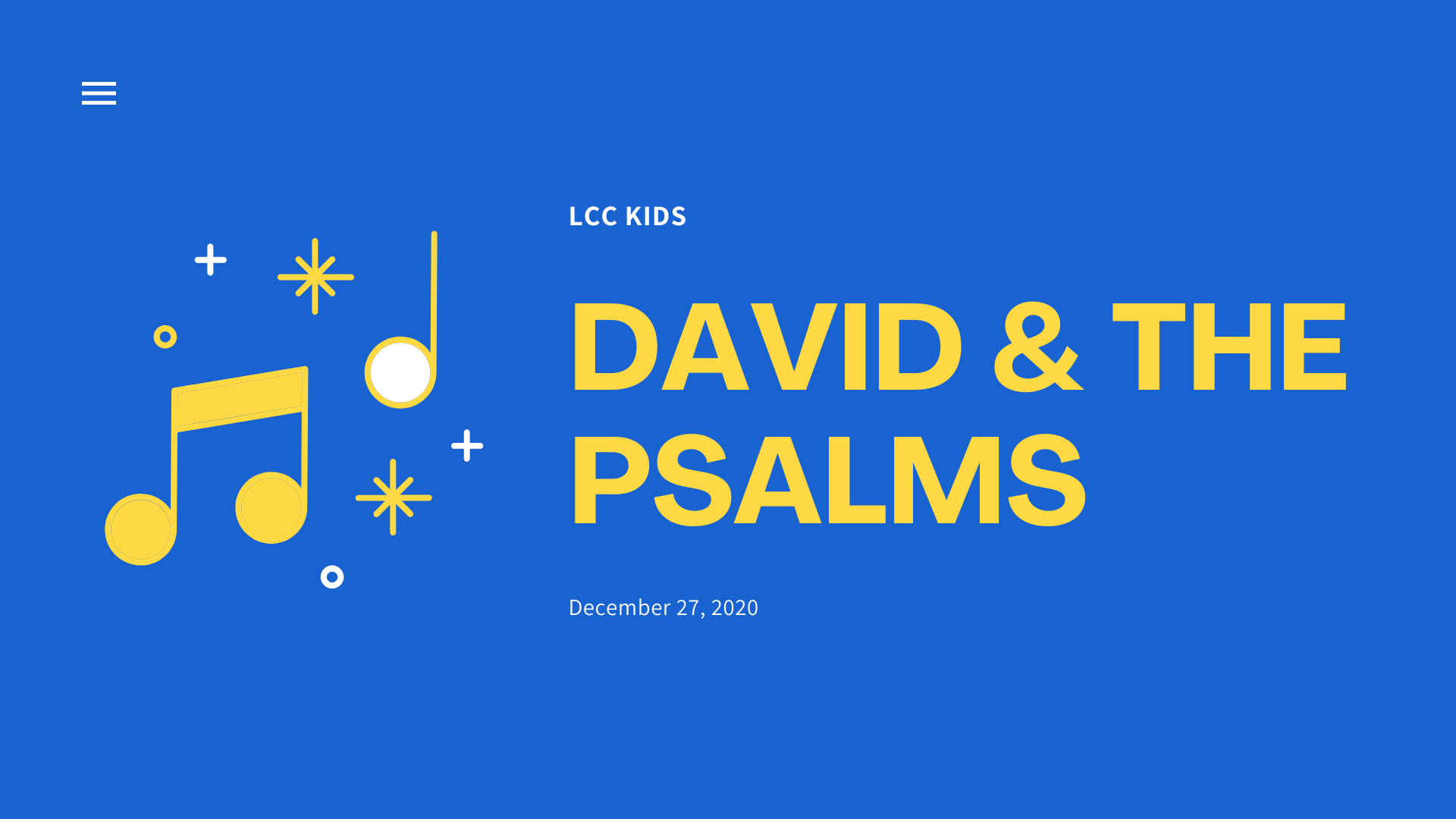 David & The Psalms banner