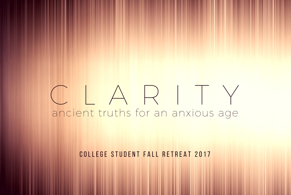 College Student Fall Retreat 2017 banner