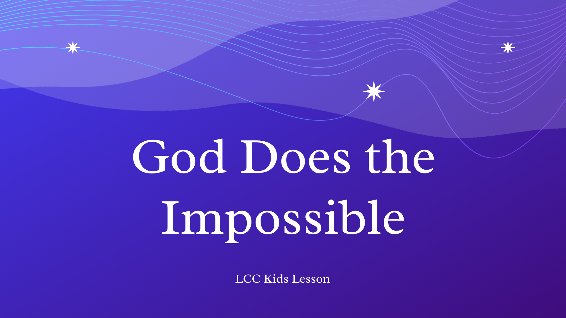 God Does the Impossible banner