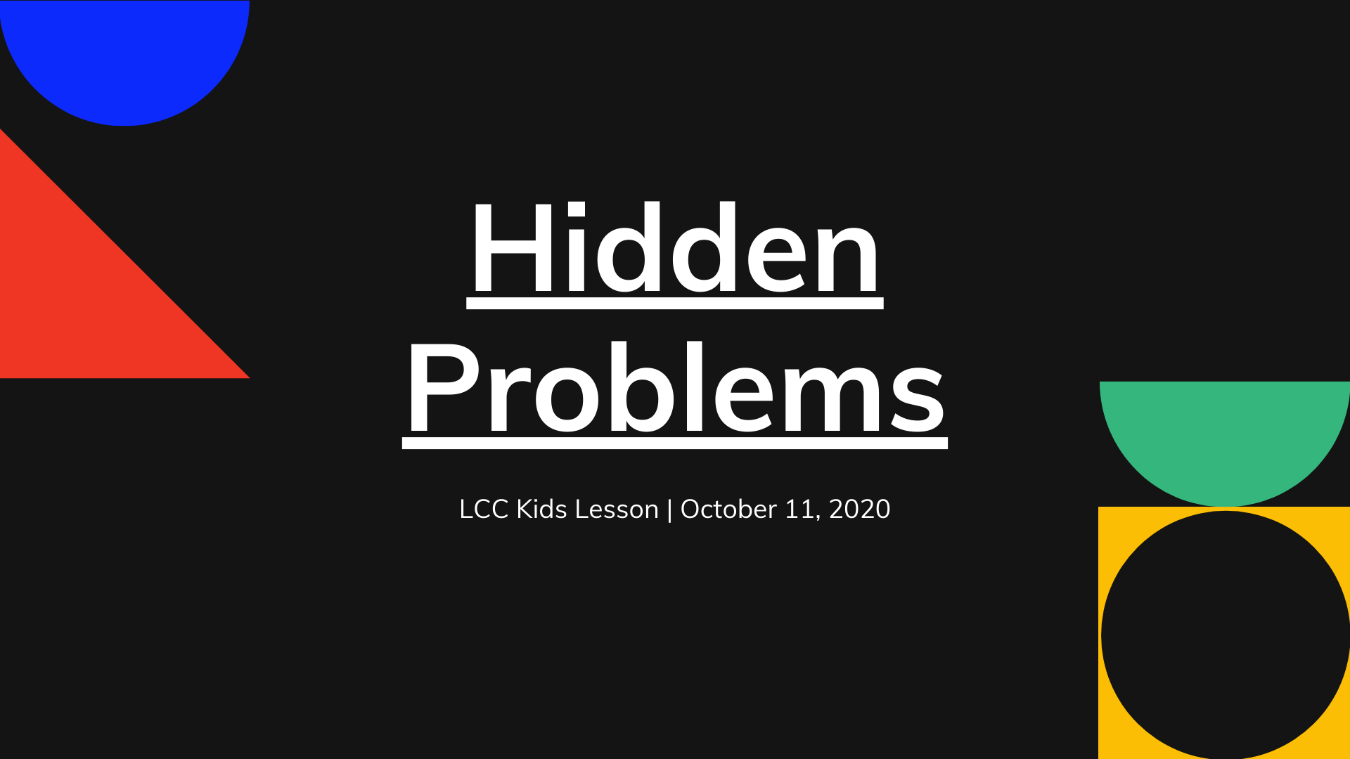 Hidden Problems banner