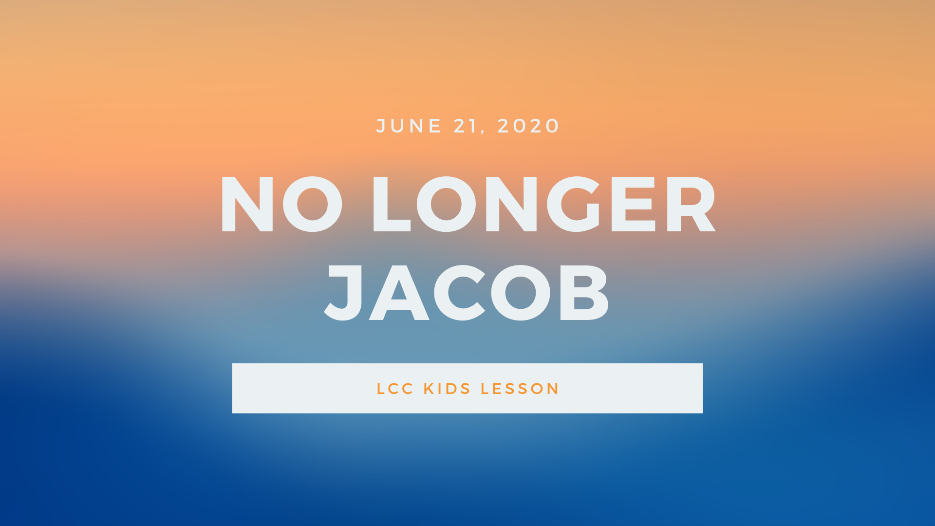 No Longer Jacob banner