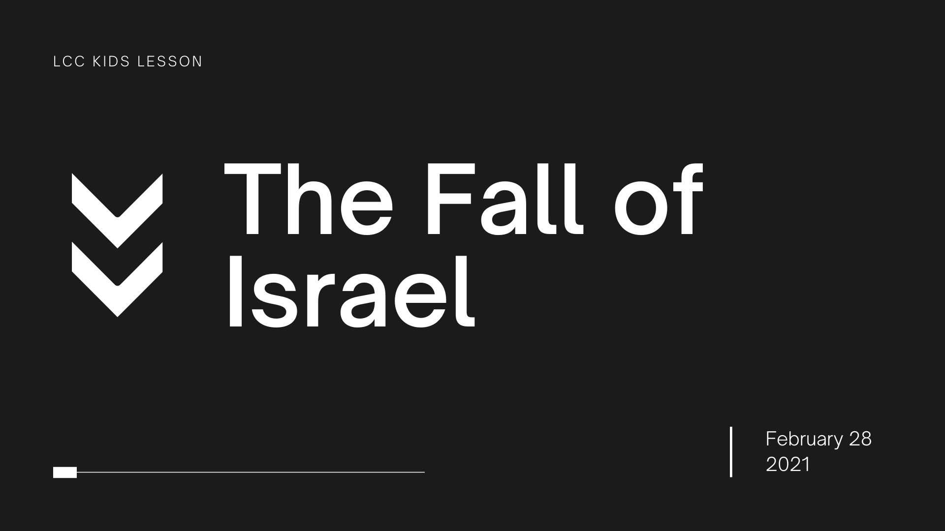The Fall of Israel banner