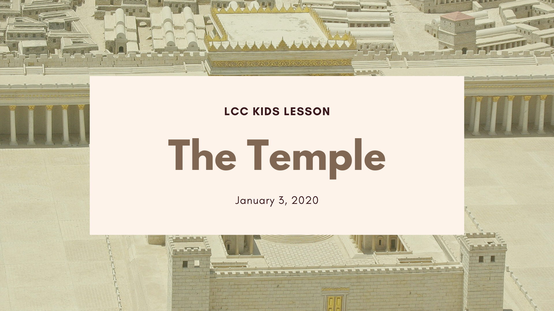 The Temple banner