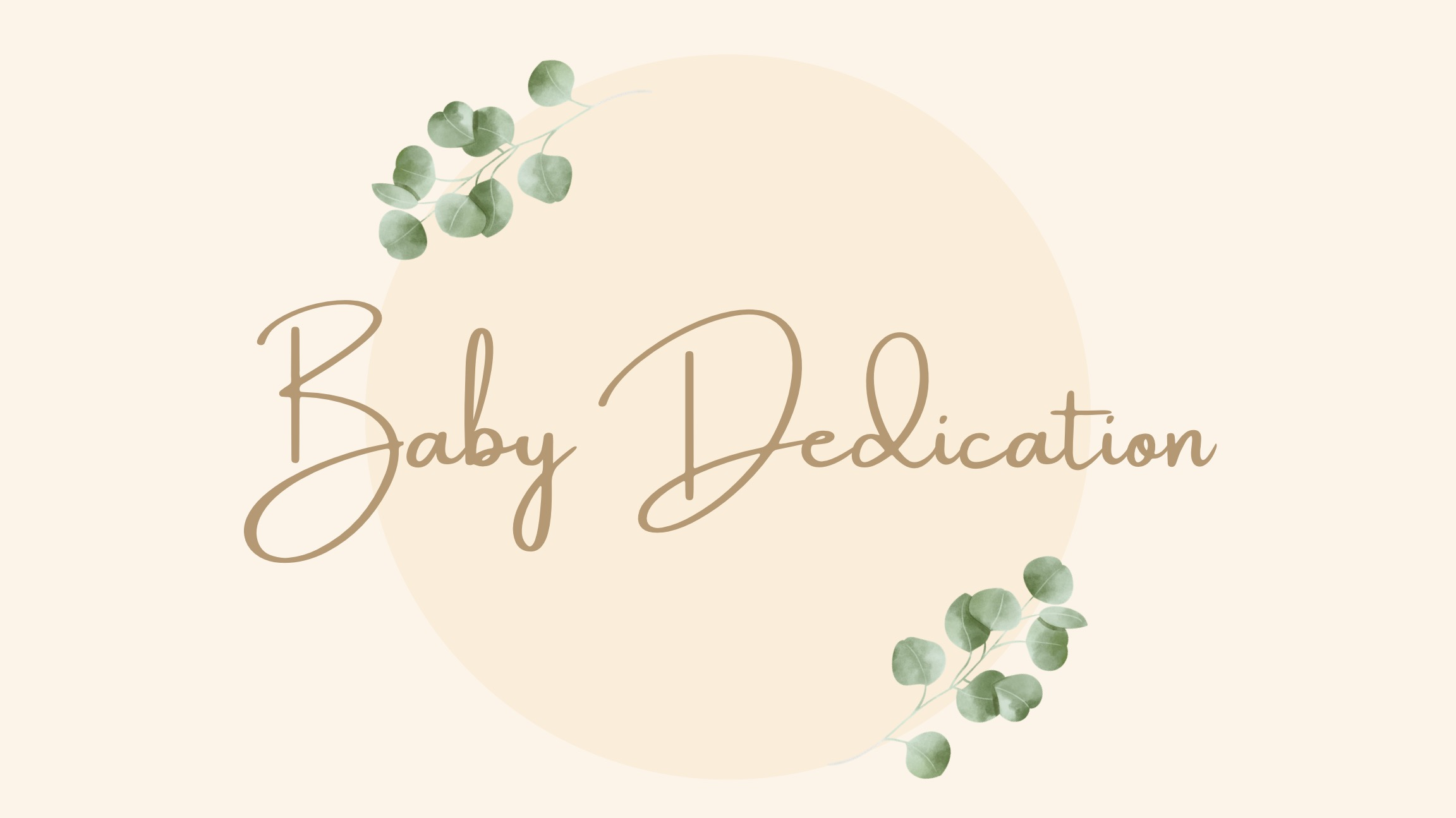 Baby Dedication 2021 PPT slide image