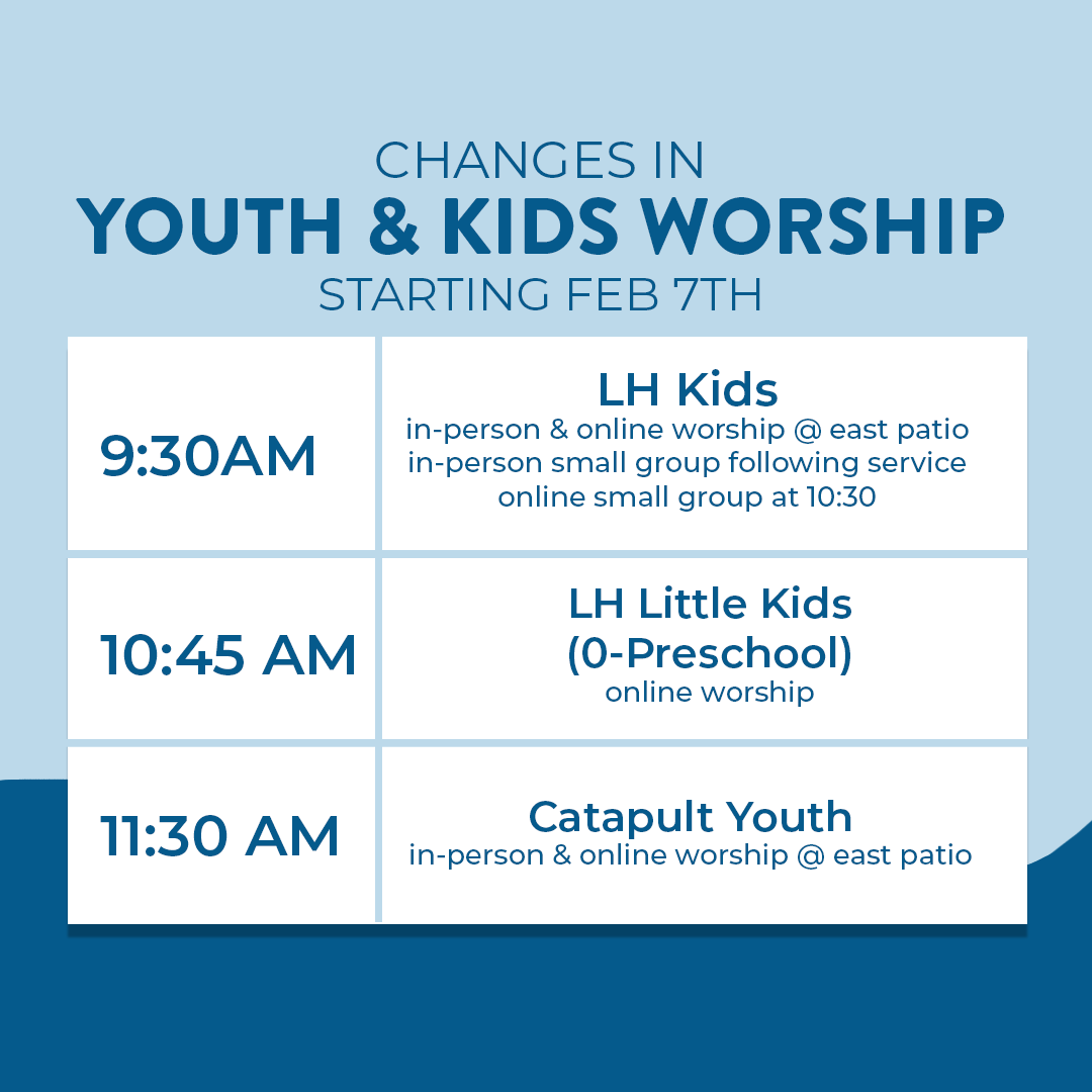 changes in youth & kids worship
