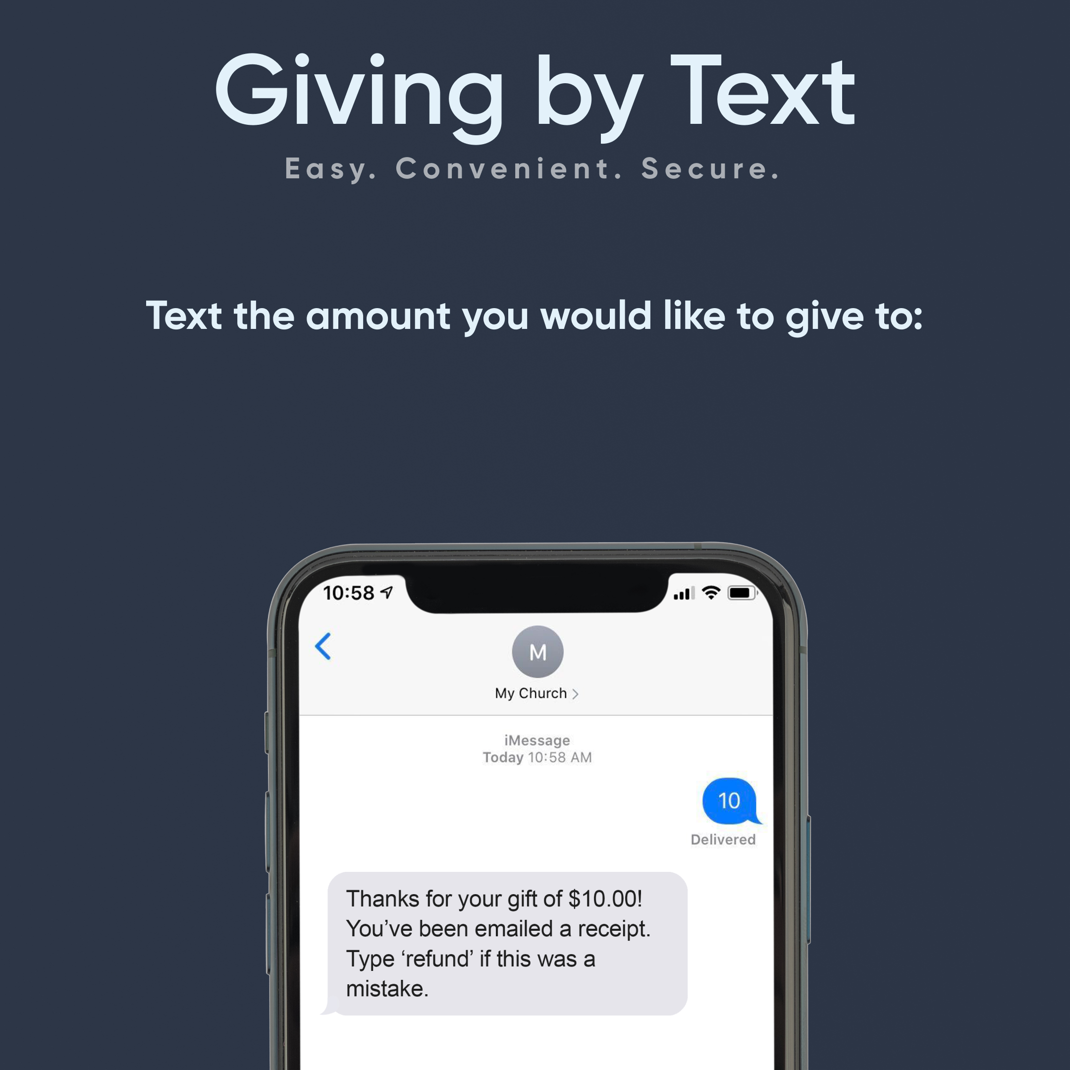 Give by text - dark