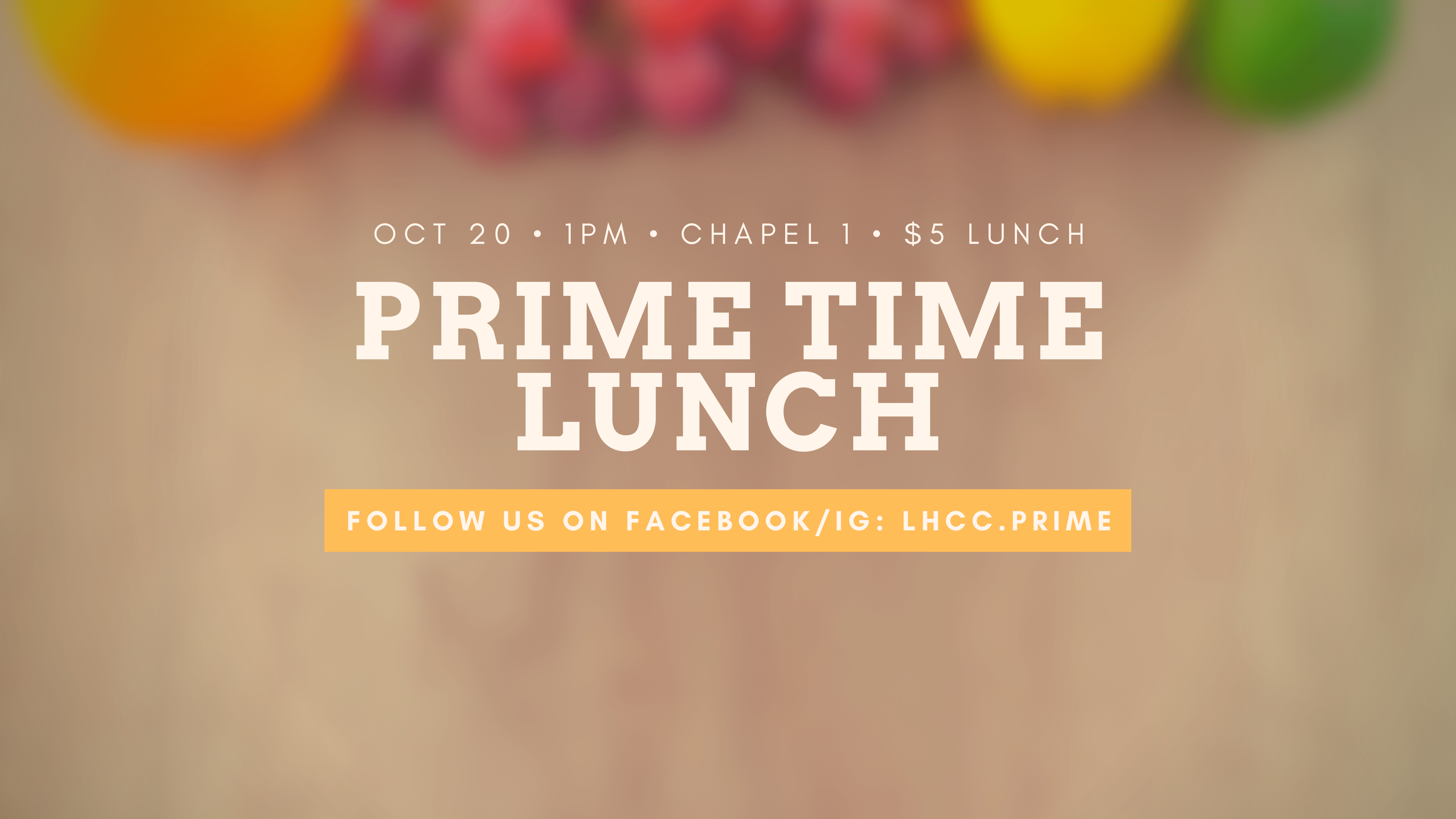 October Prime Time Lunch
