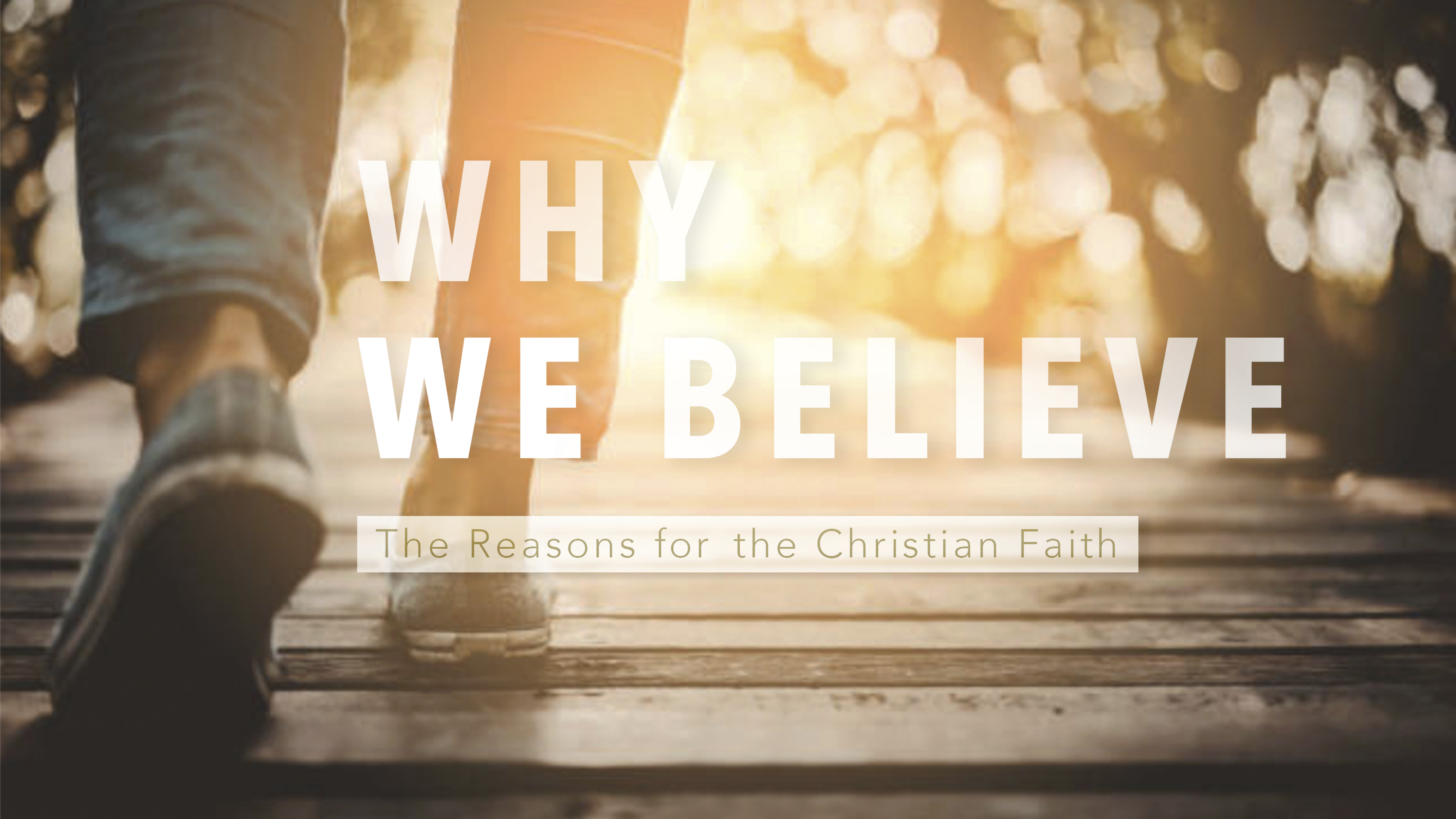 Why We Believe: The Reasons for the Christian Faith