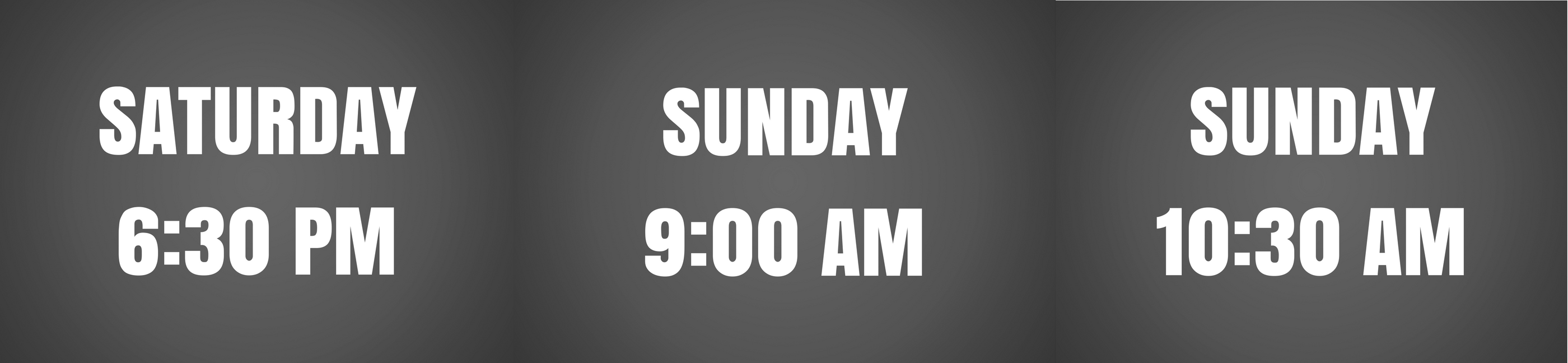 Service Times Banner