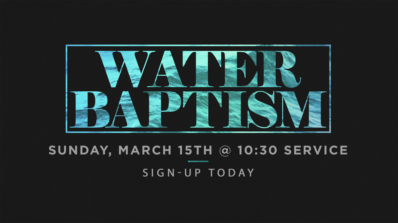 water baptism march 2020