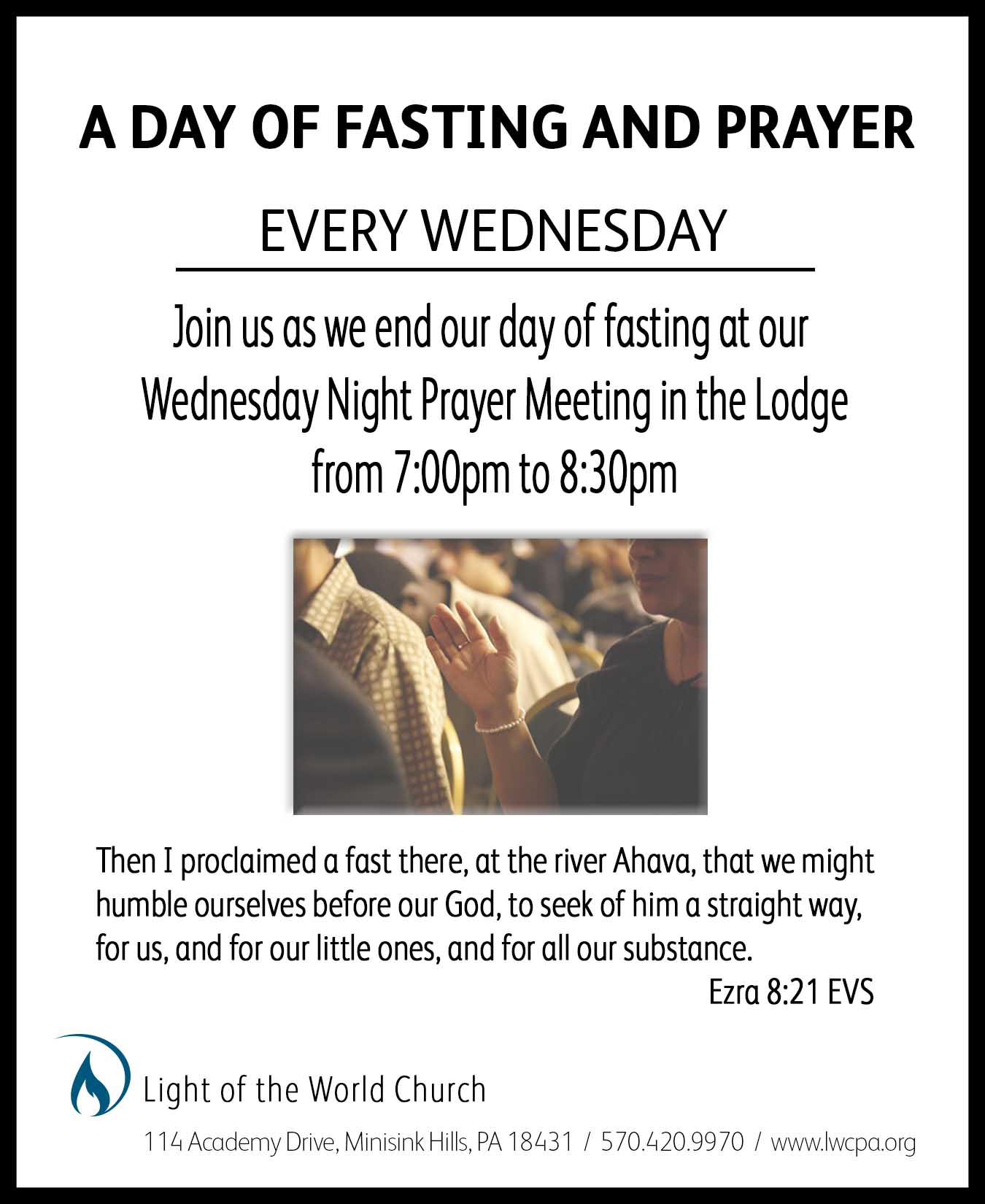 Fasting Praying Wed. 2019