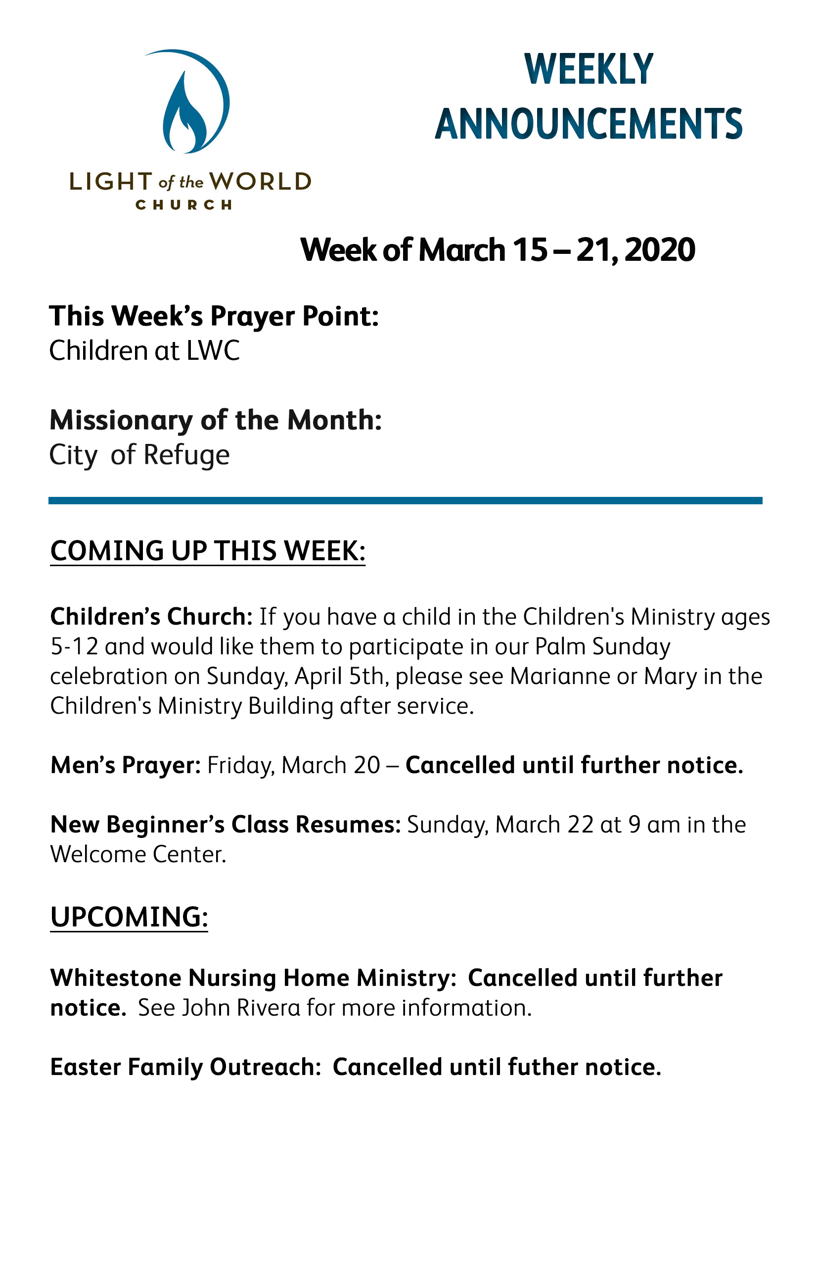 Mar 15-2020 Weekly Announcements Front for Web
