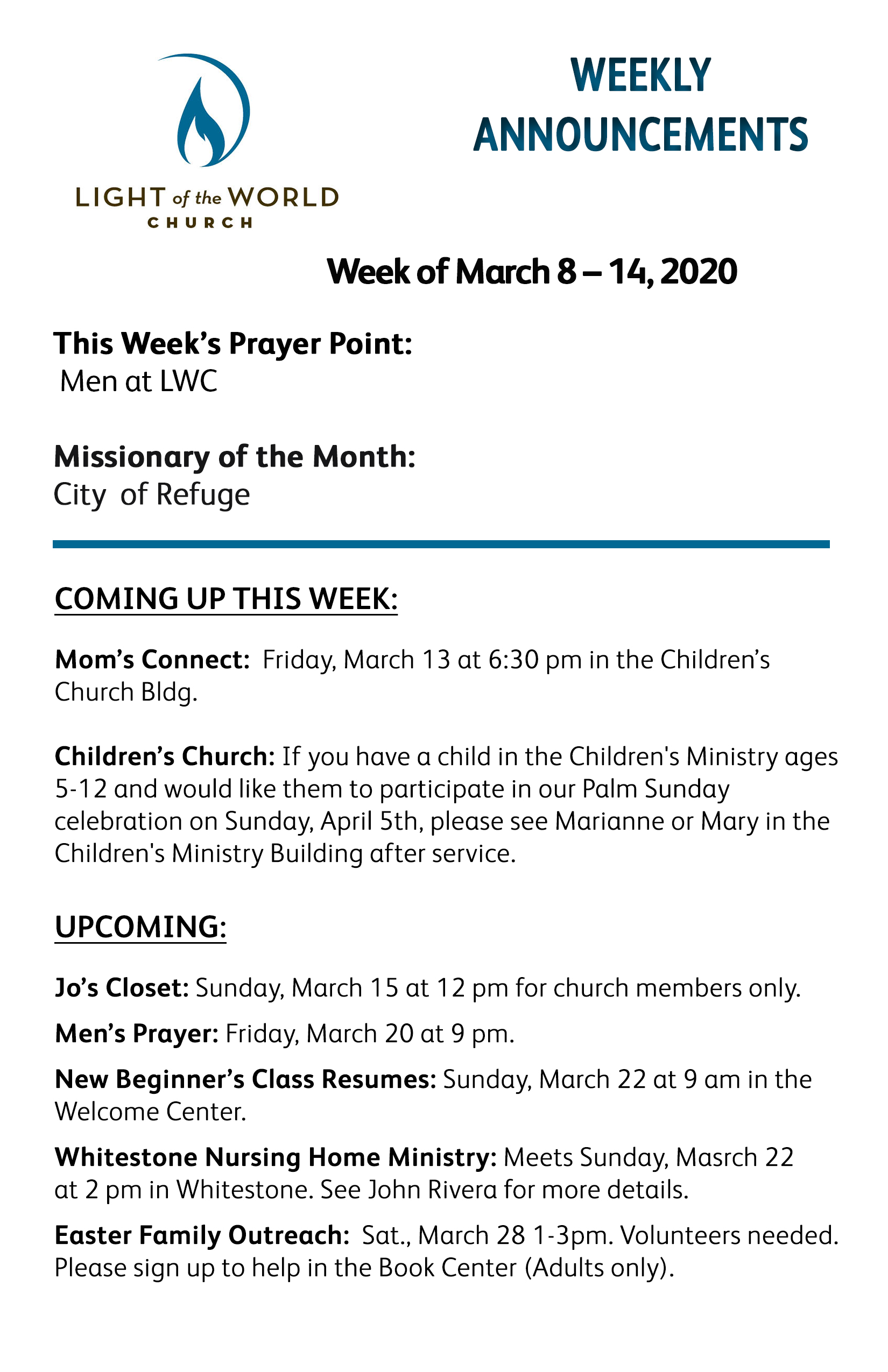 Mar 8-2020 Weekly Announcements Front for Web copy