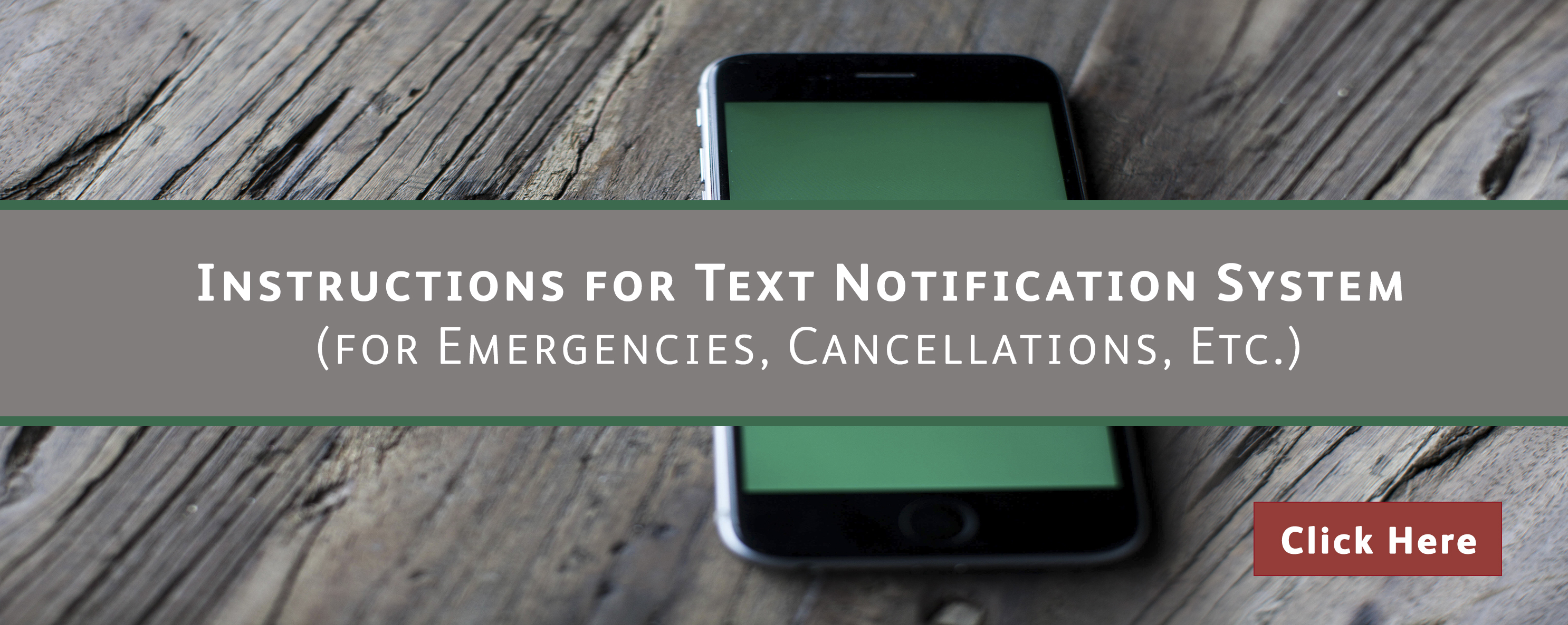 Text Notification Instructions- rotator