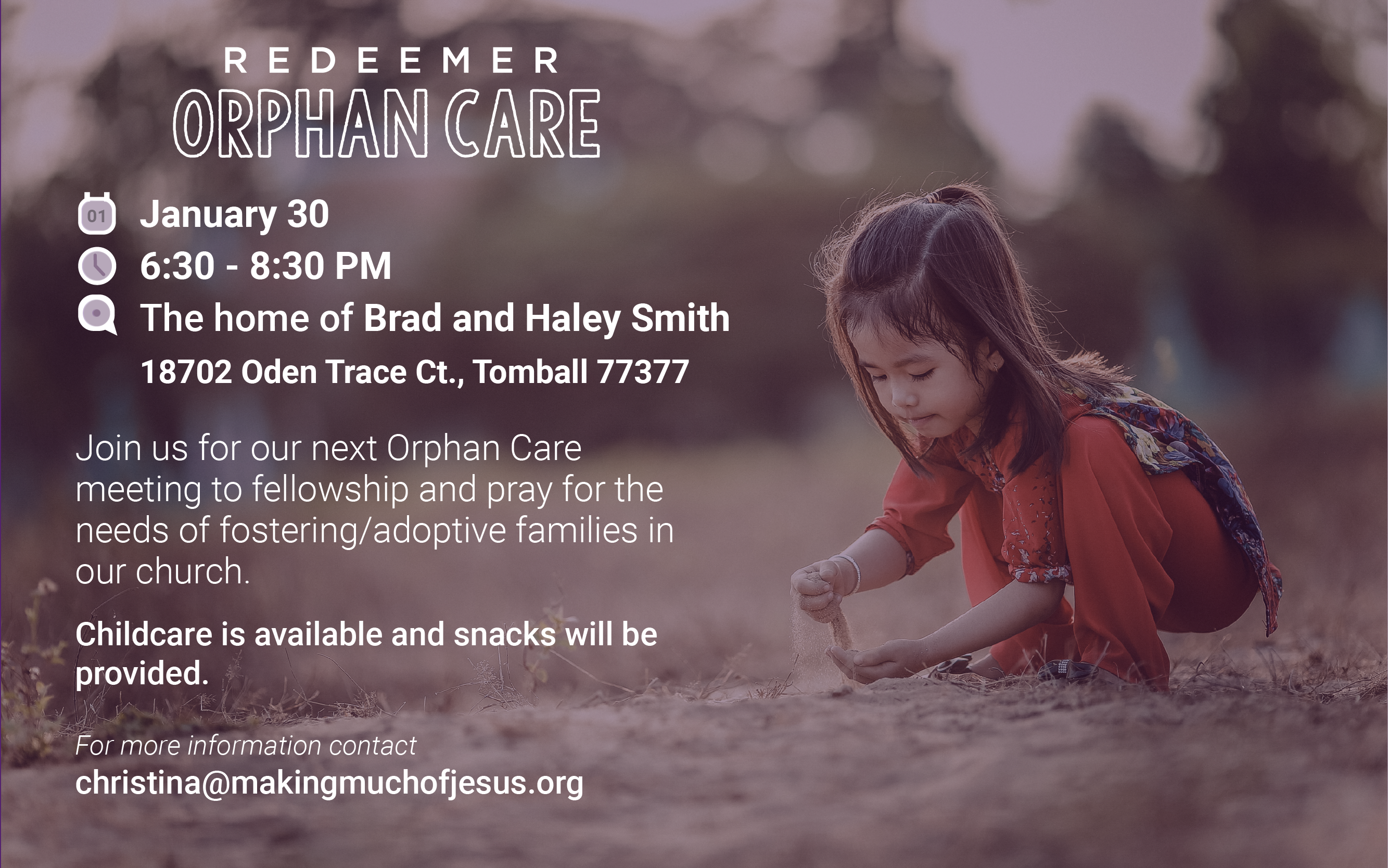 Redeemer Orphan Care Meetings- 01.30.20-01