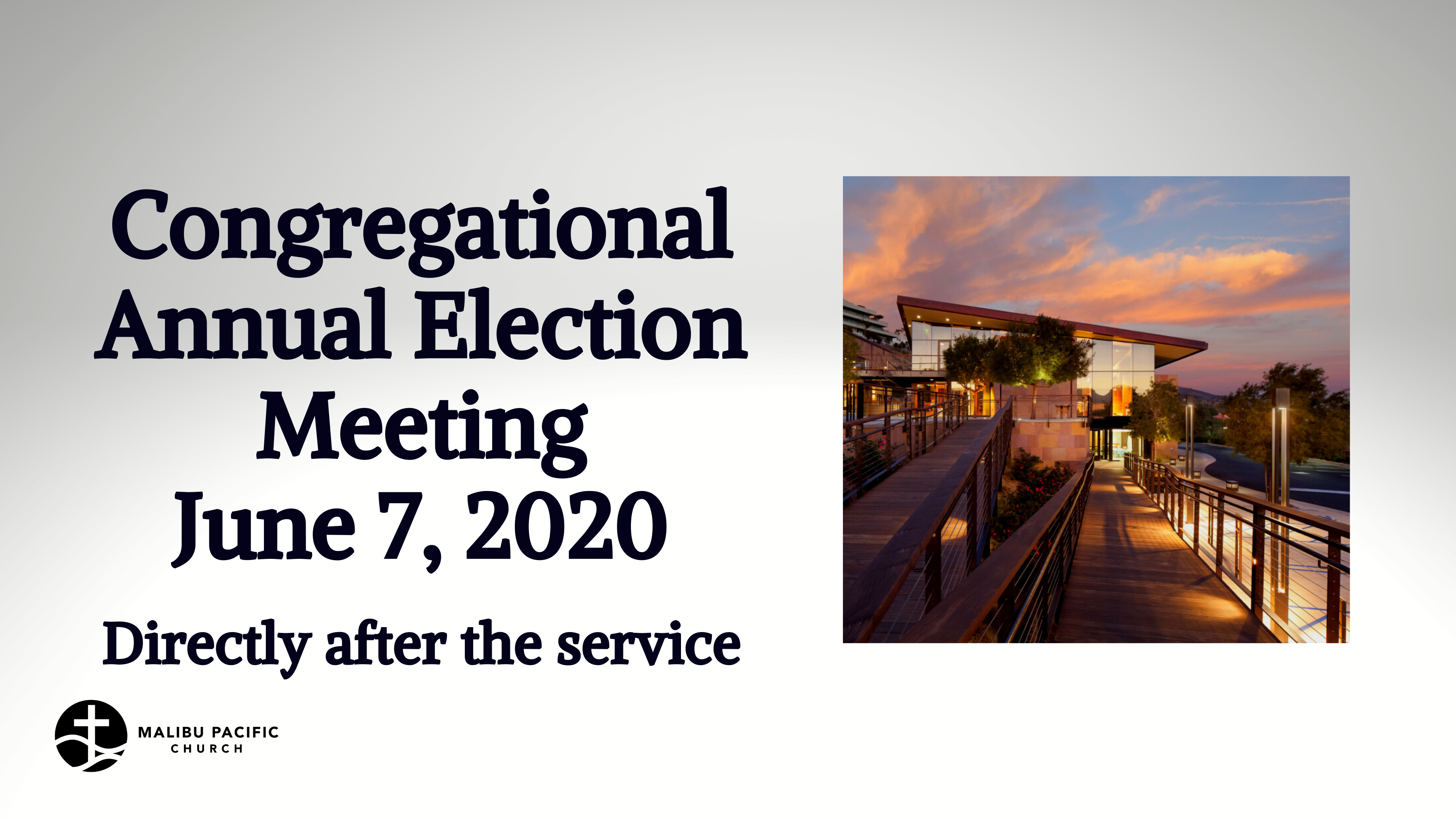 Congregational Annual Election Meeting image
