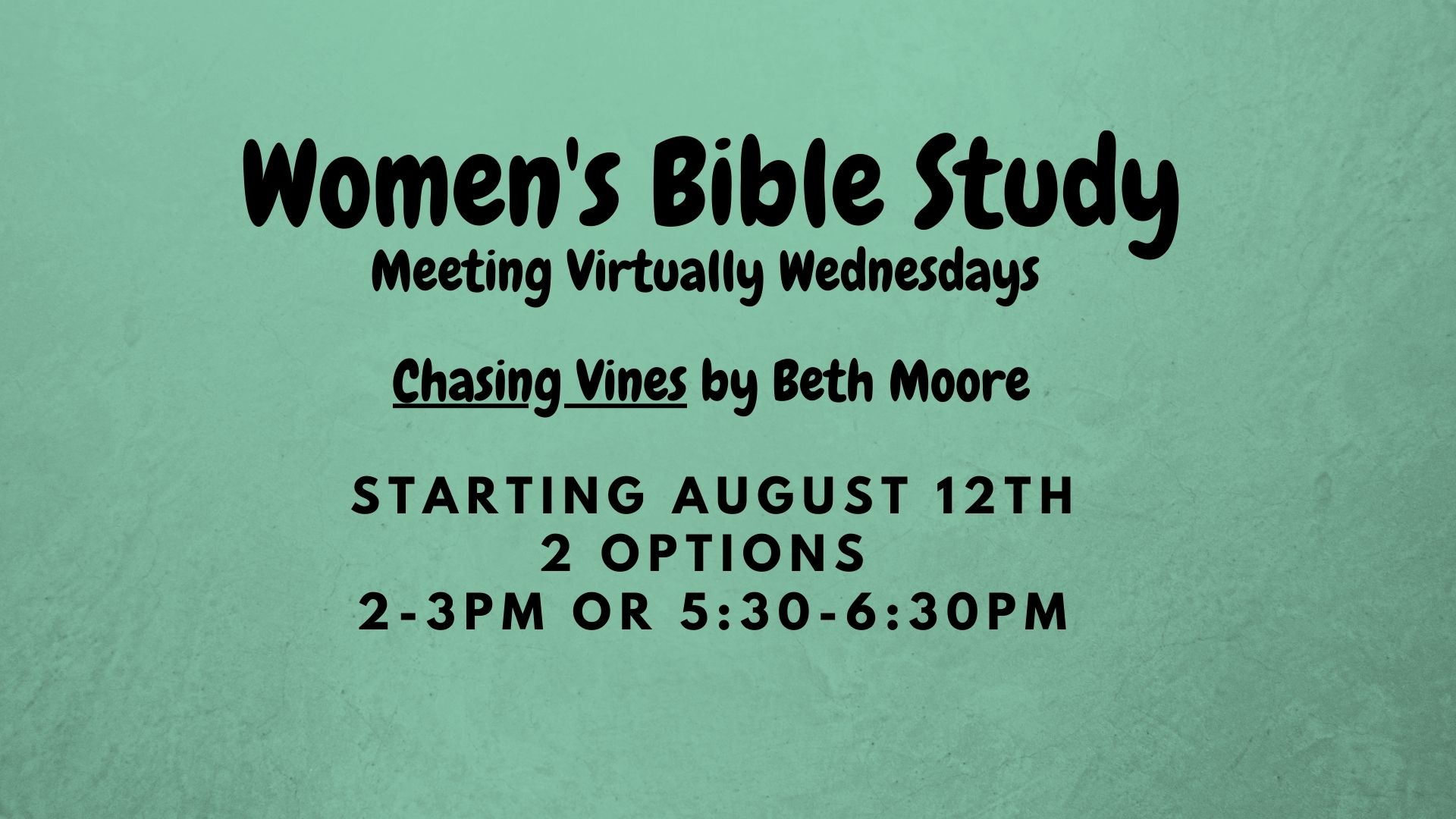 current womens bible study