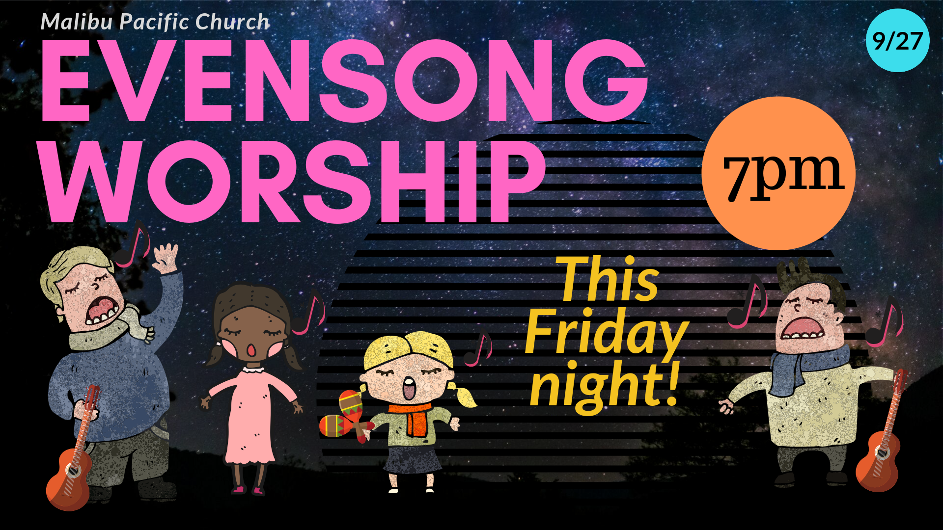 Evensong OUTSIDE Worship Night 9-27-19 (2) image
