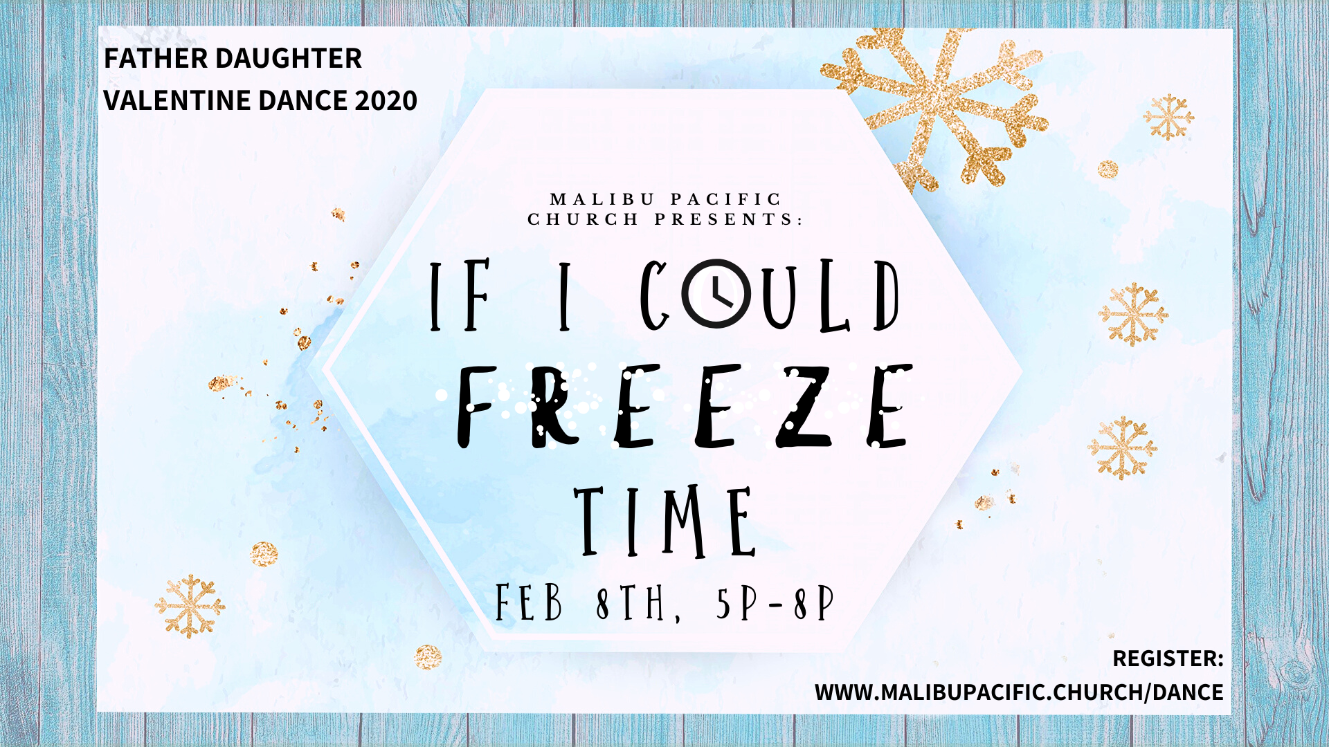 If I Could Freeze Time Main Logo w_ date