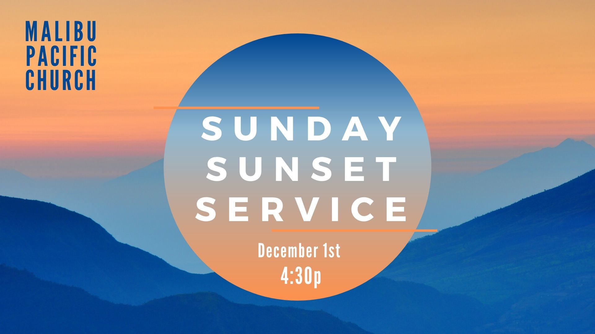Malibu pacific church Sunset Service Presentation image