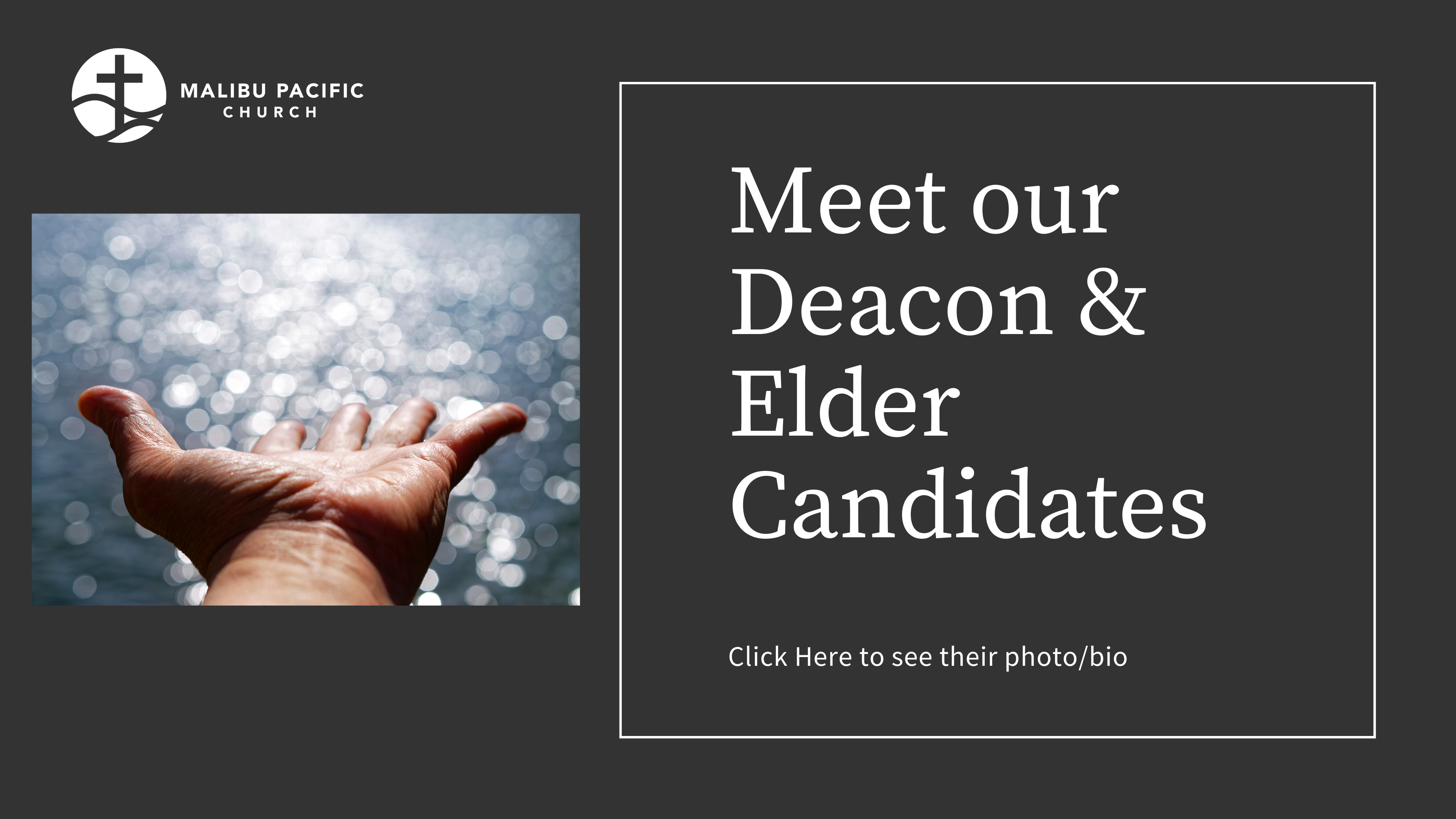 Meet our  2020-2021 Deacon & Elder Candidates image