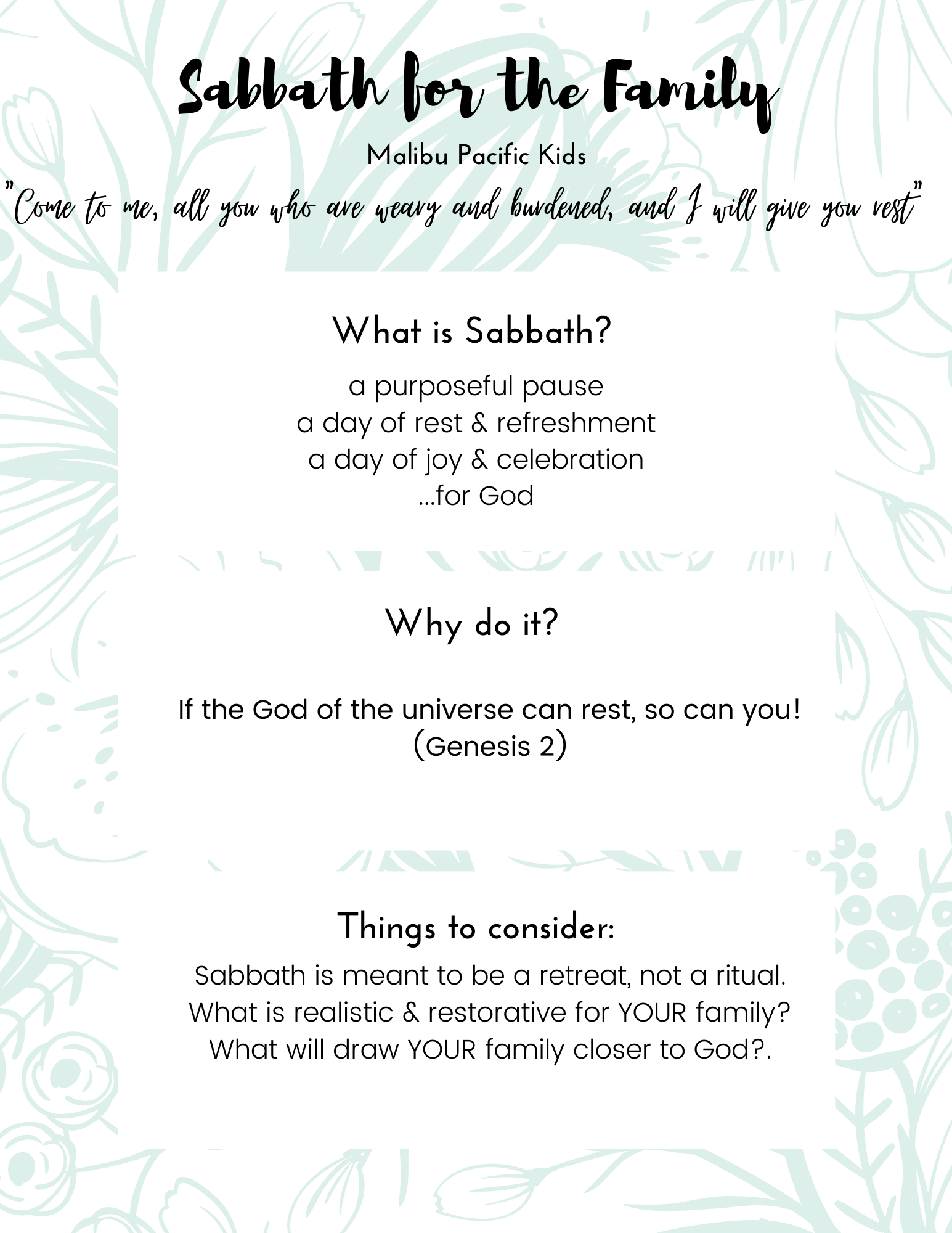 What is Sabbath