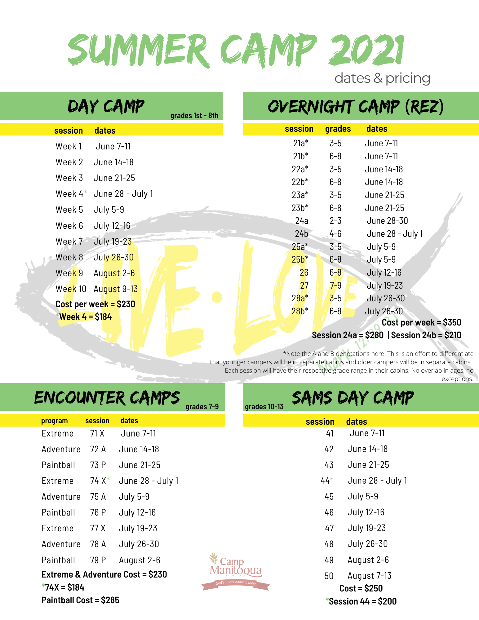 2021 Summer Camp_Dates and Pricing_website