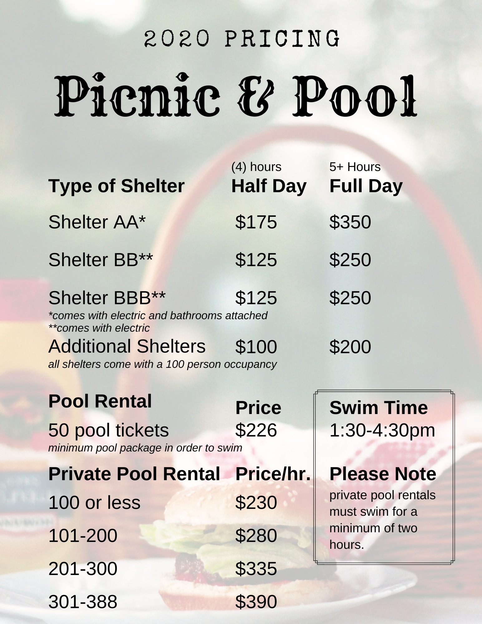 pricing_2020_picnic & pool rental