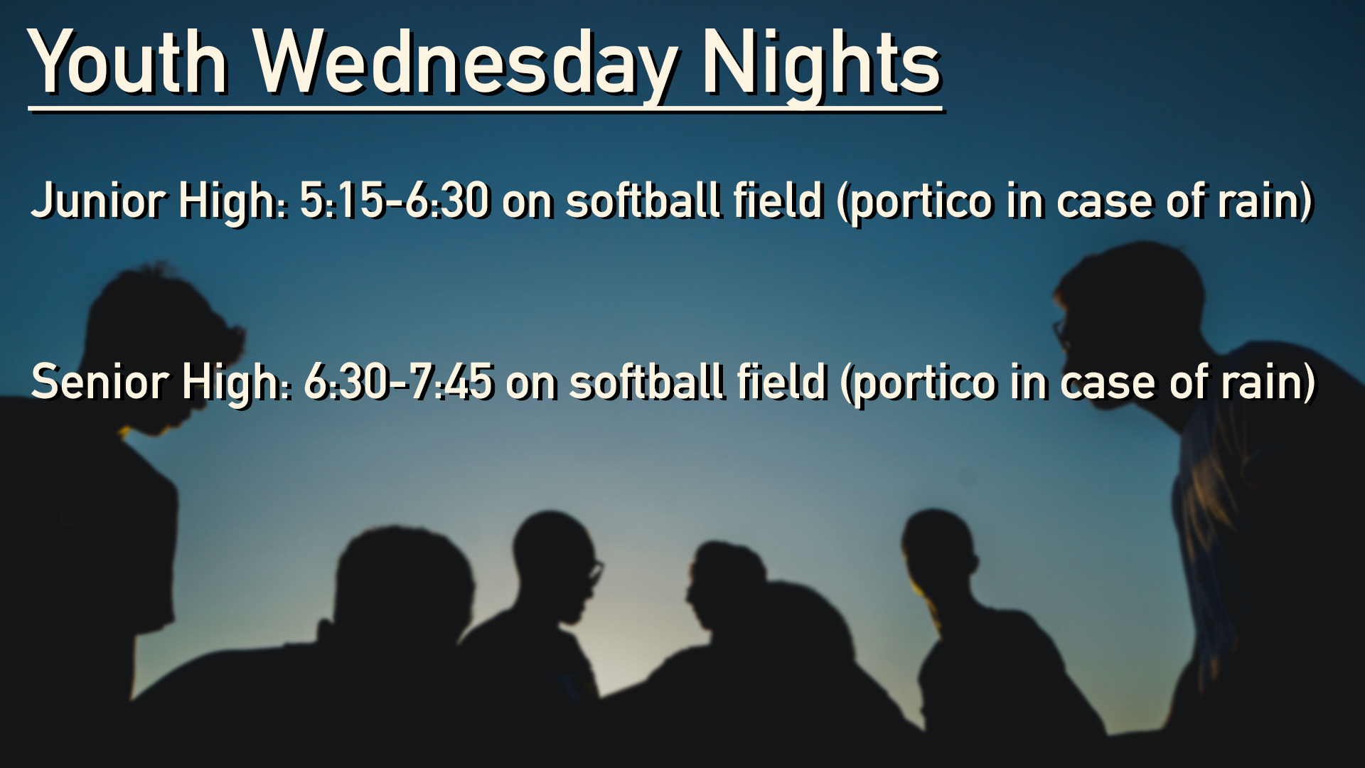 Youth Wednesday Night Fall