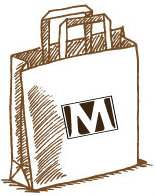 brown bag with logo