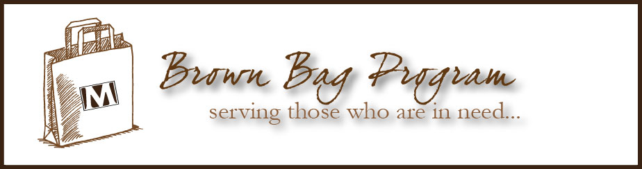 Brown Bag Ministry banner