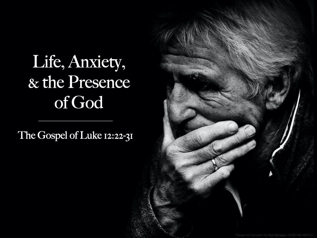 Graphic - Luke 12.22-31 (Life, Anxiety, & the Presence of God)