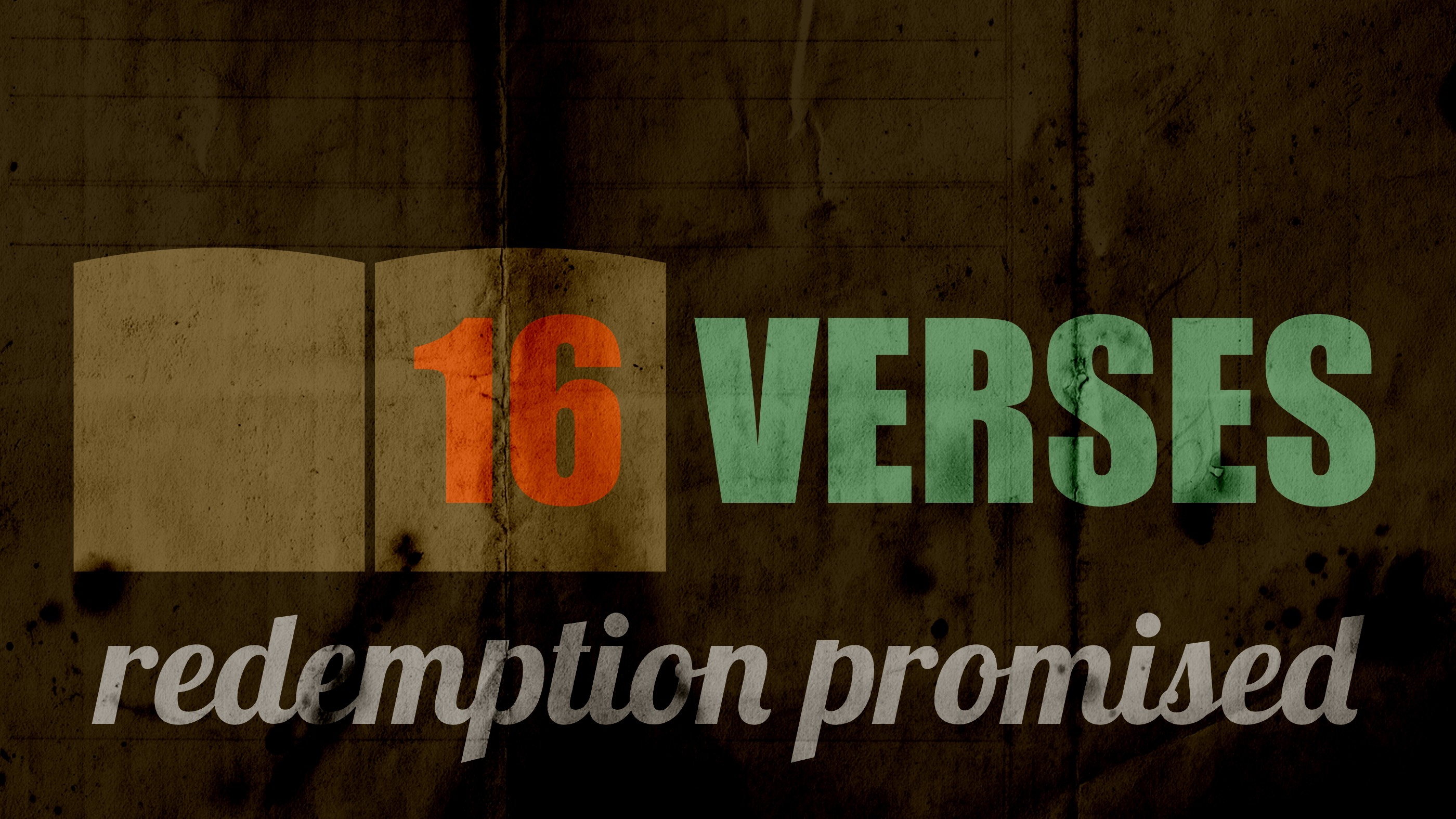 16 VERSES redemption promised