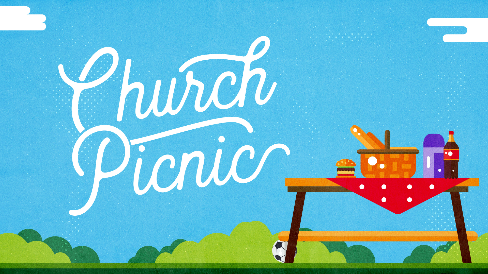 Chruch Picnic Drawing copy image