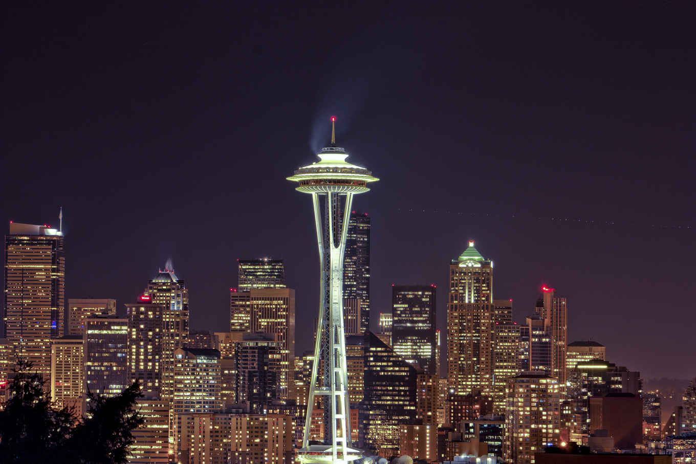 Space-Needle-at-Night