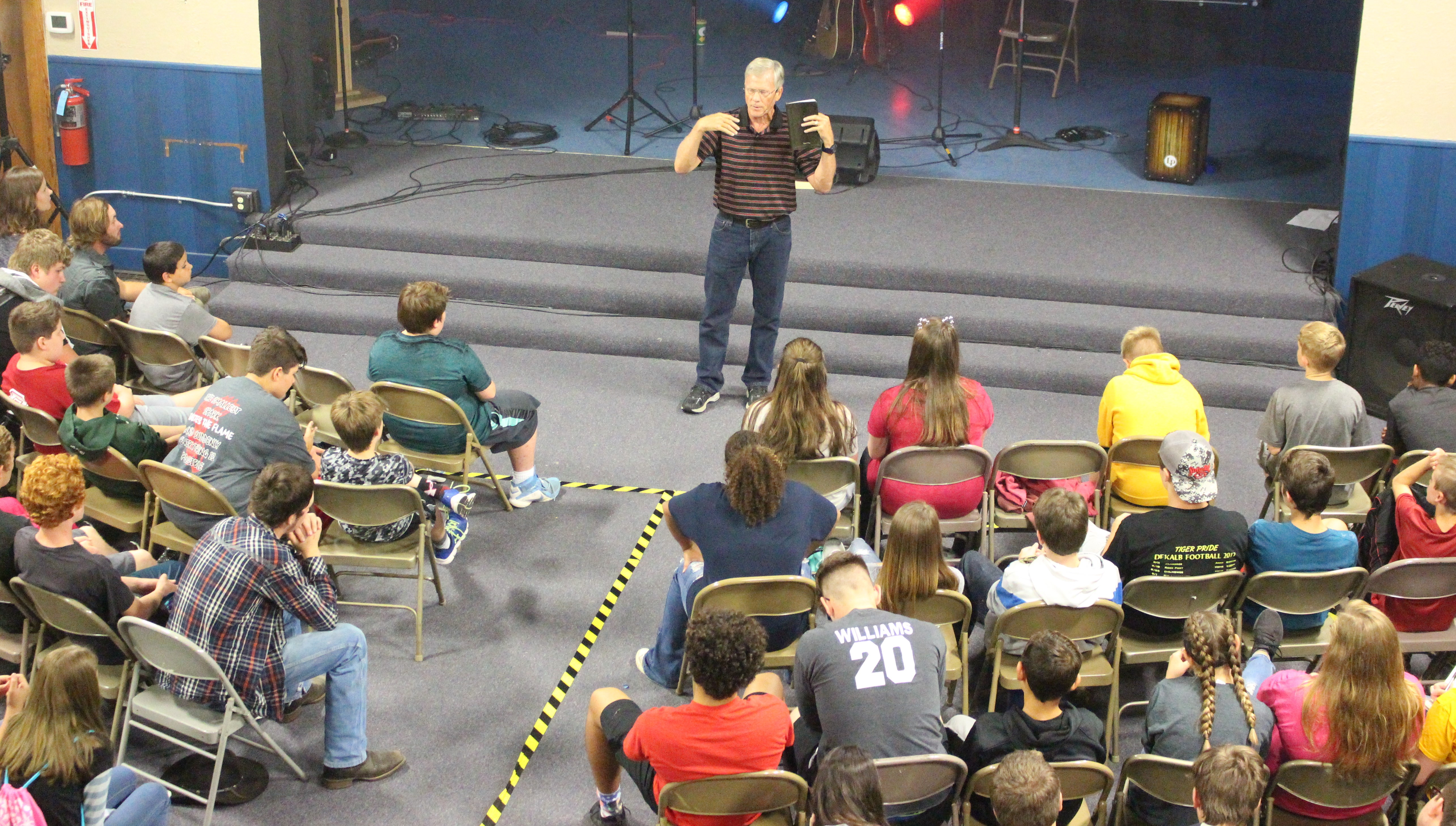Dave preaching at event