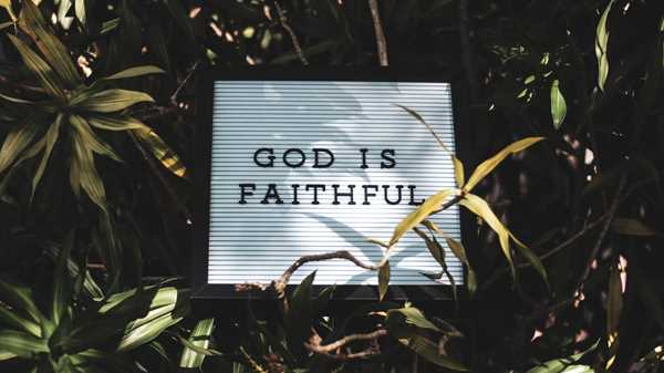 God is faithful-resized