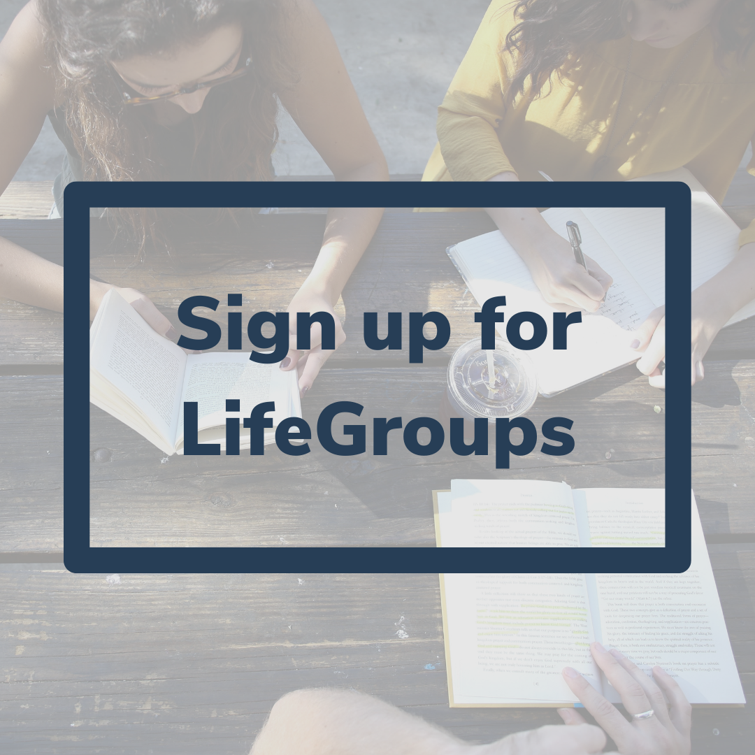 LifeGroups Connect Page