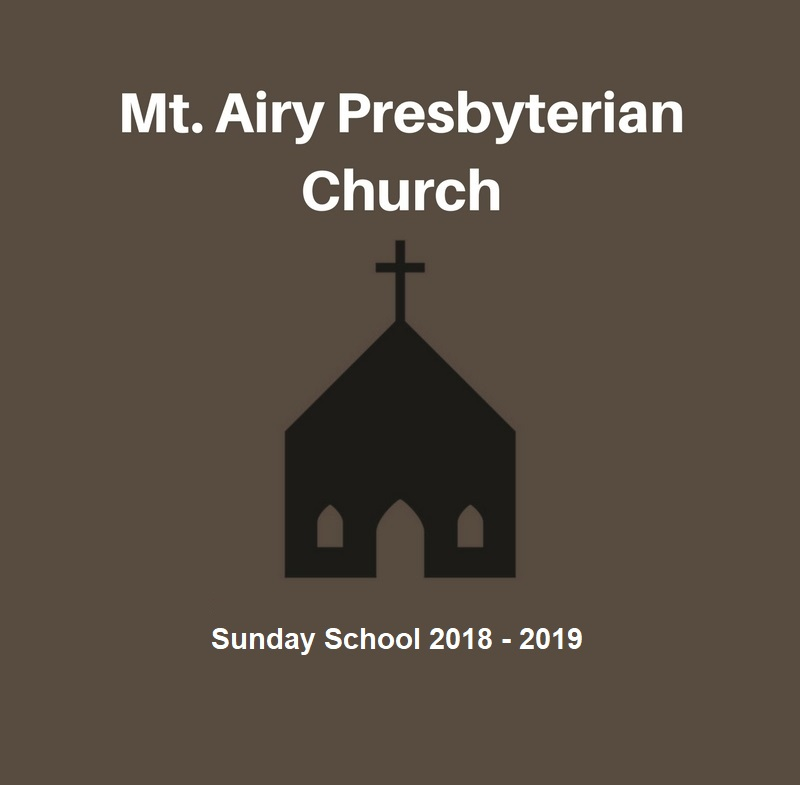 Adult Sunday School 2018-2019 banner