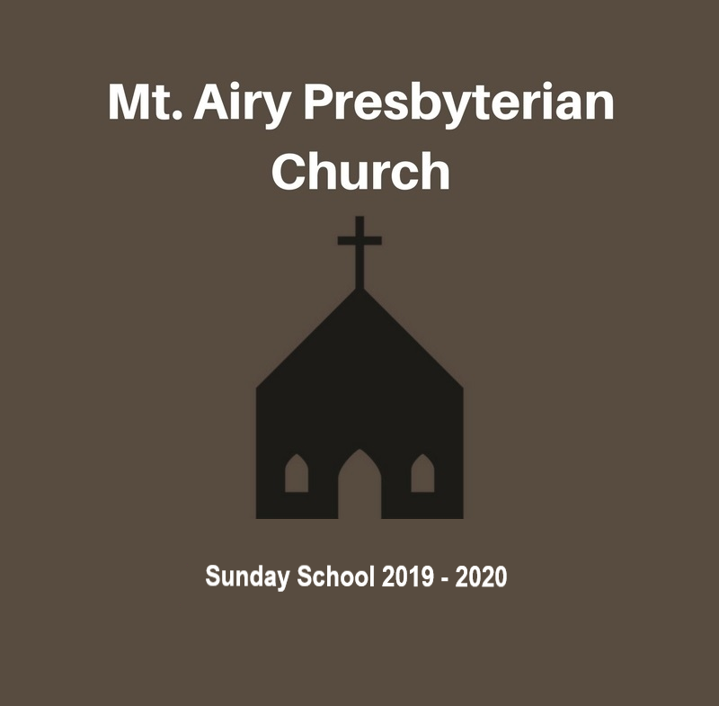 Adult Sunday School 2019 - 2020 banner