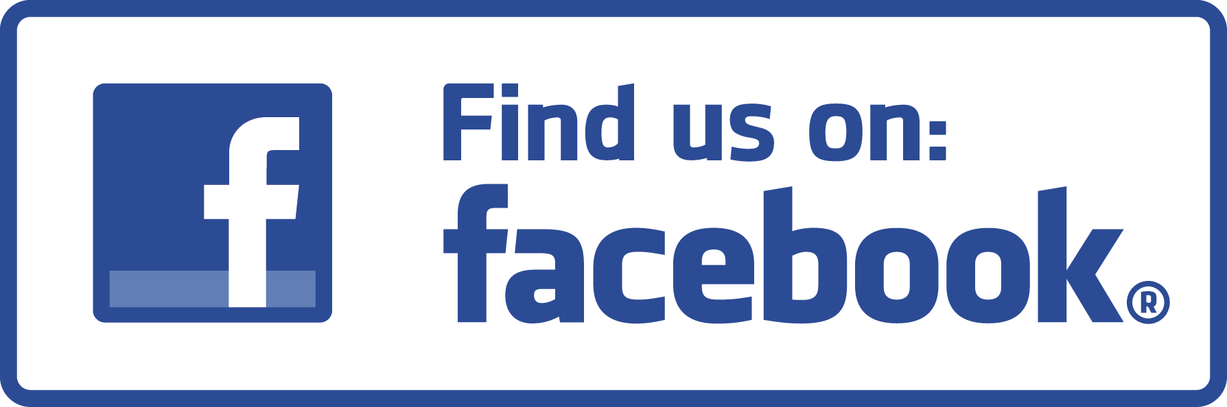 Facebook - find us on facebook button
