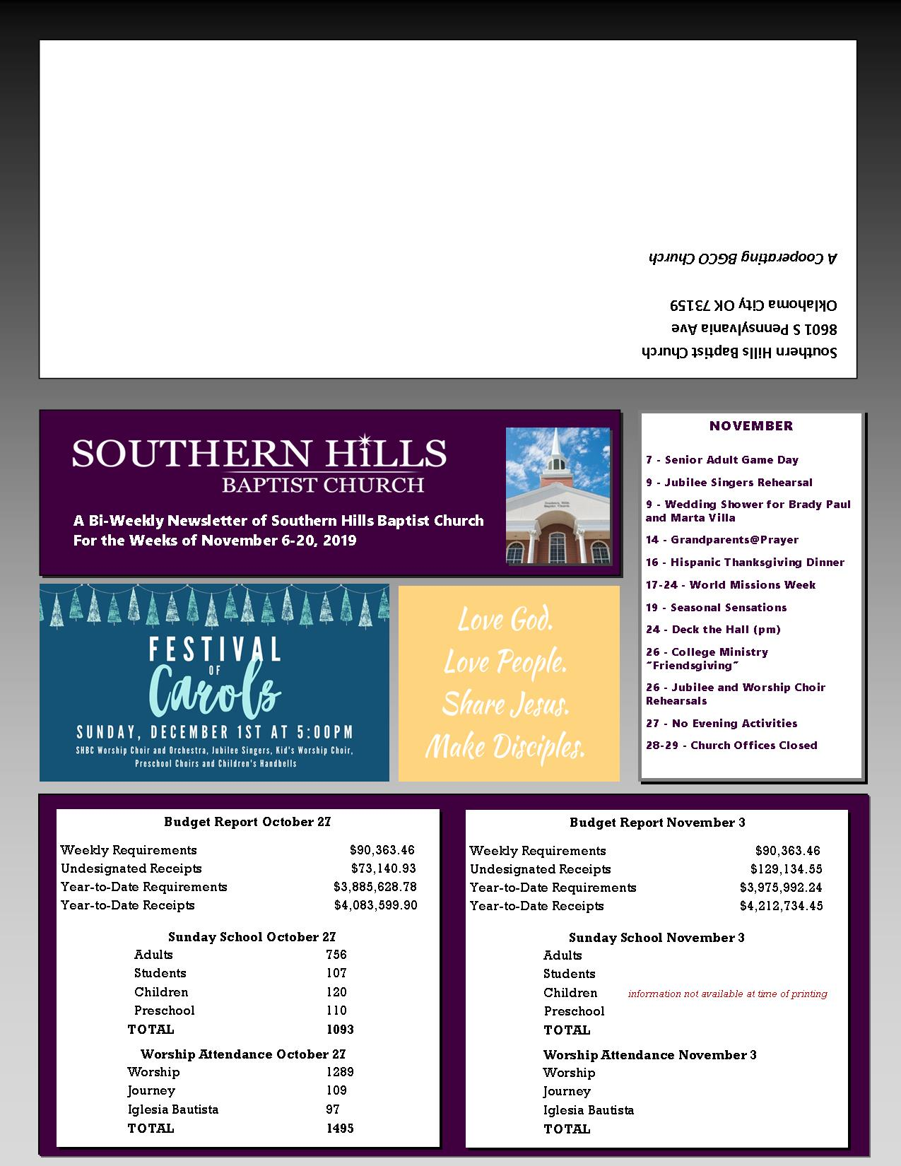 SHBC OKC Newsletter 11-6-19
