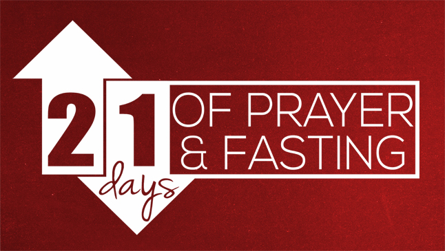 21 Days of Prayer and Fasting banner