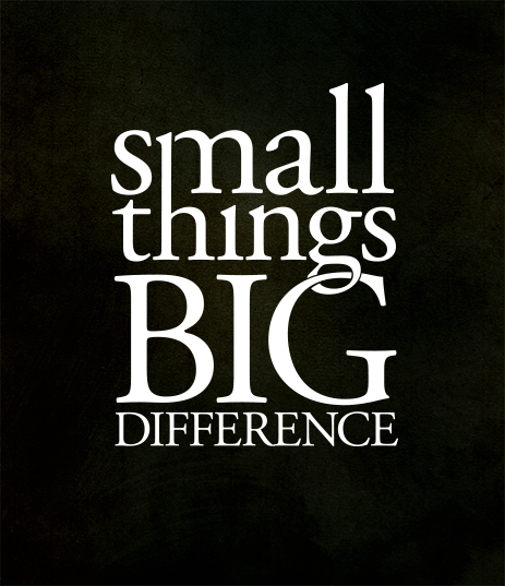 Small Thing, Big Difference banner