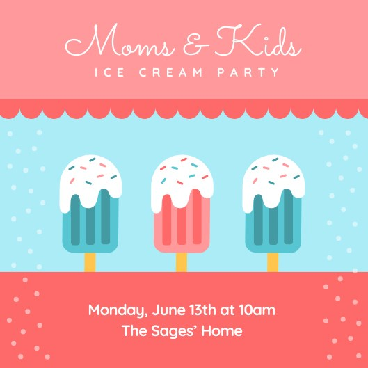 moms & kids ice cream party image
