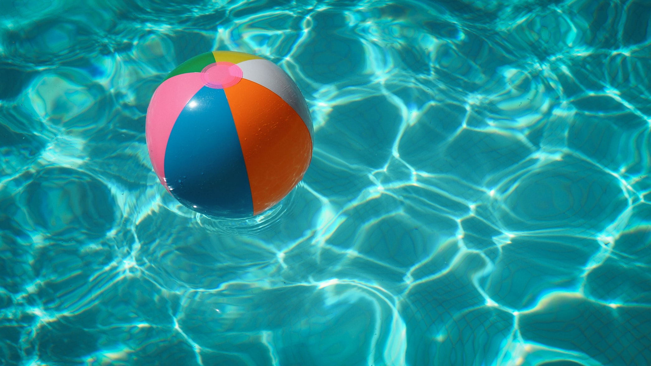 pool water and beach ball free image image