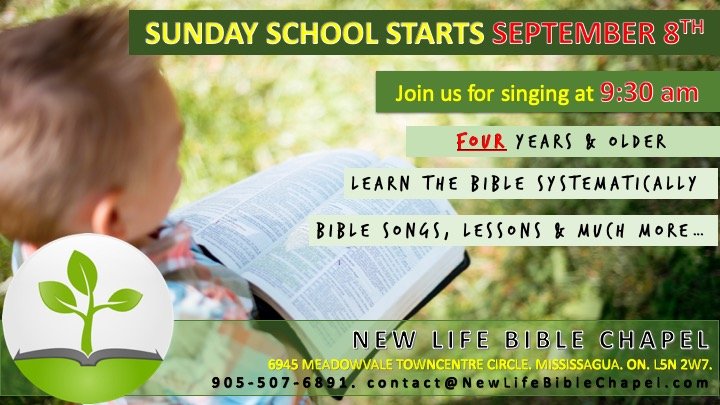 Sunday school Sept 8 2019