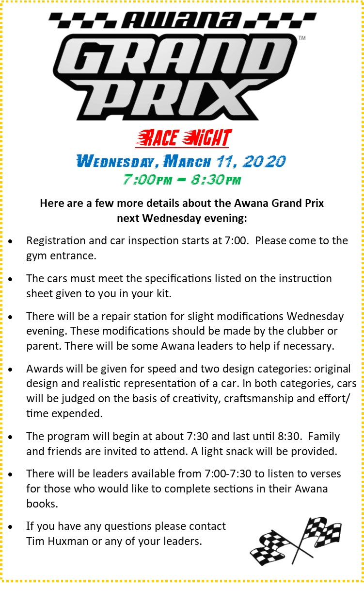 awana instructions